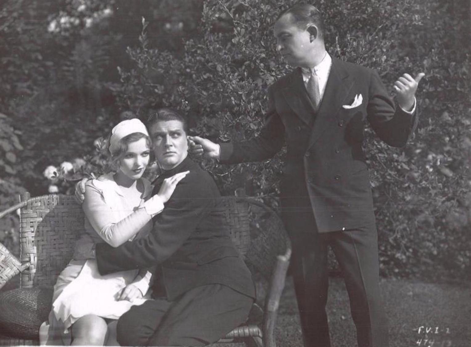 Sally Blane, Allen Kearns, and Hugh Trevor in The Very Idea (1929)