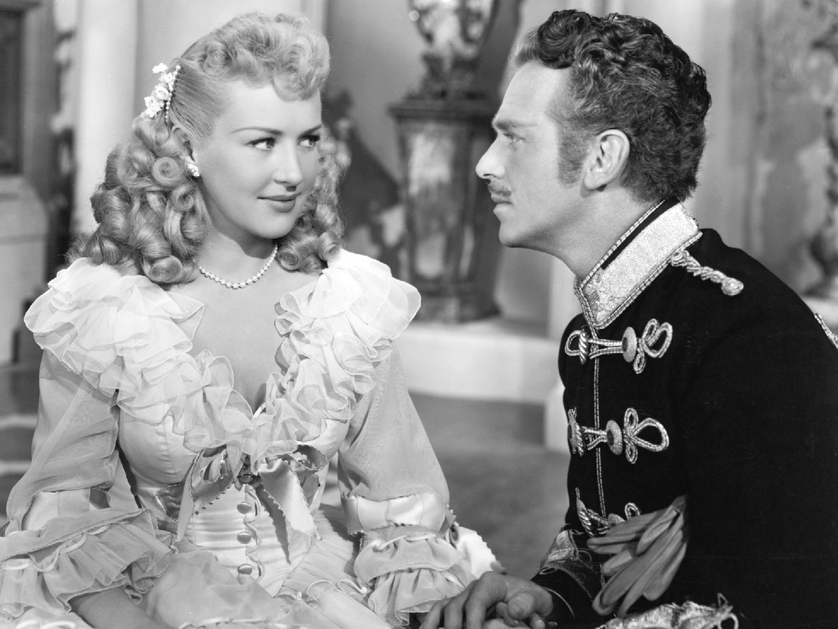 Douglas Fairbanks Jr. and Betty Grable in That Lady in Ermine (1948)