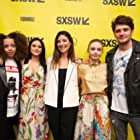 Jessica Barden, Brett Dier, Camila Mendes, Carly Stone, and Hayley Law at an event for The New Romantic (2018)