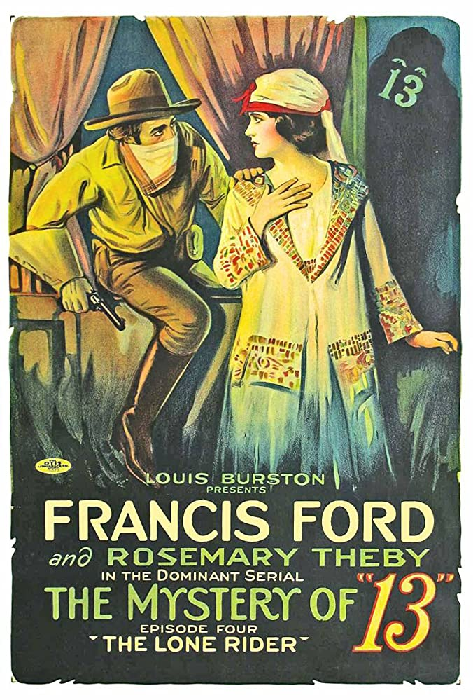Francis Ford and Rosemary Theby in The Mystery of 13 (1919)