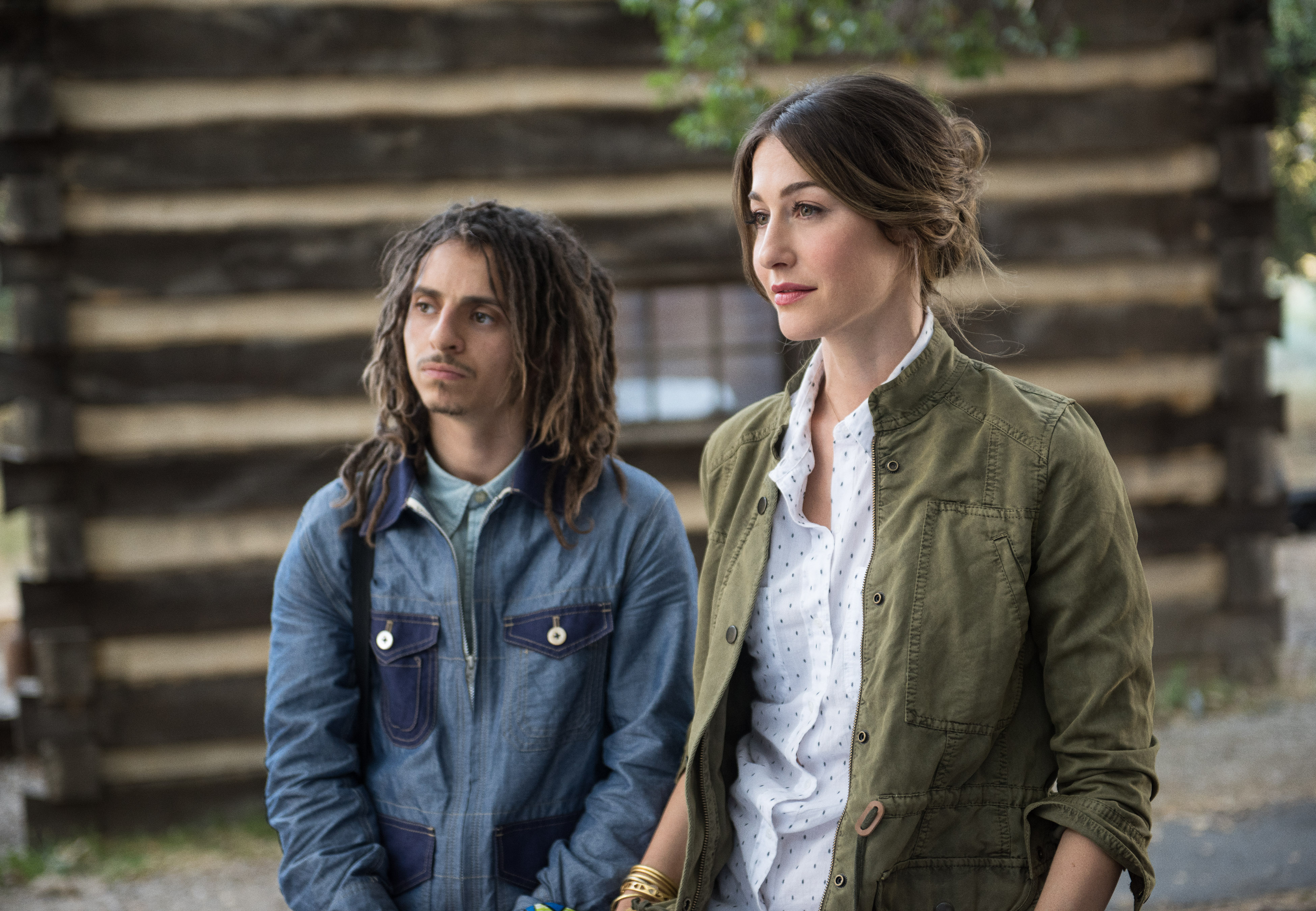 Kat Foster and Moises Arias in Pilot (2016)