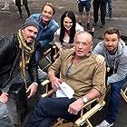 James Caan, Kevin Dillon, Sam Huntington, Christian Hillborg, and Katie McGrath in The Throwaways (2015)