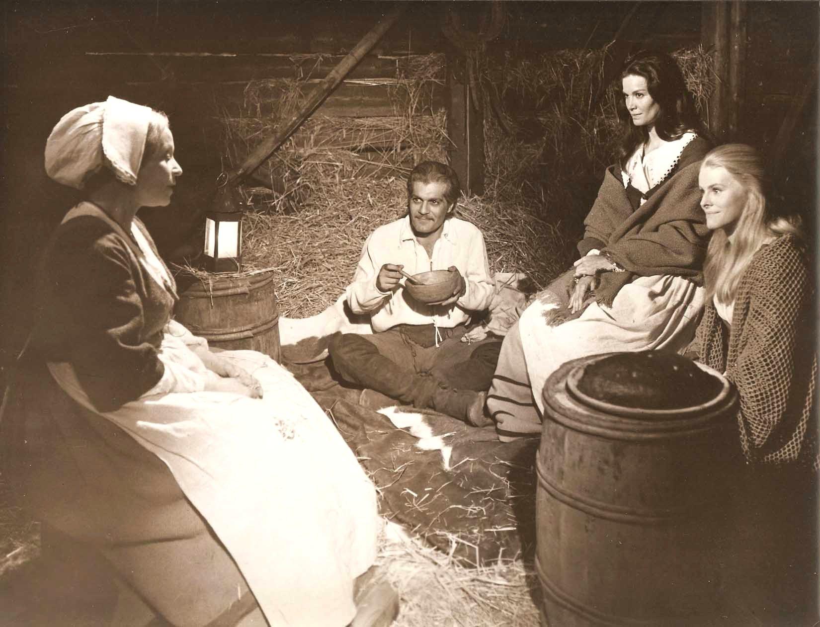 Omar Sharif, Florinda Bolkan, Madeleine Hinde, and Irene Prador in The Last Valley (1971)