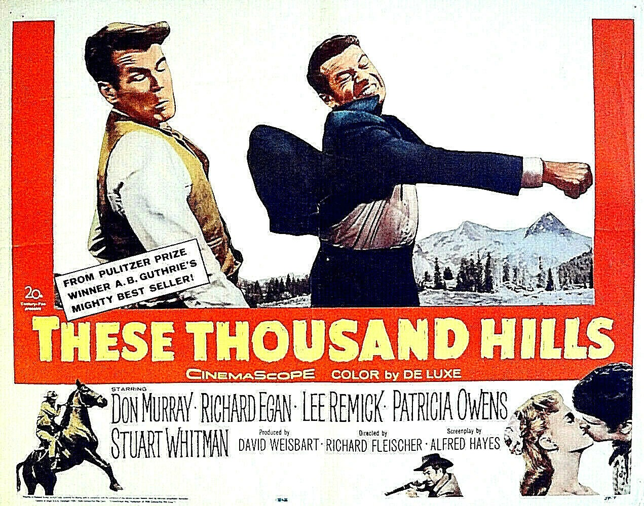 Lee Remick, Richard Egan, Don Murray, Patricia Owens, and Stuart Whitman in These Thousand Hills (1959)