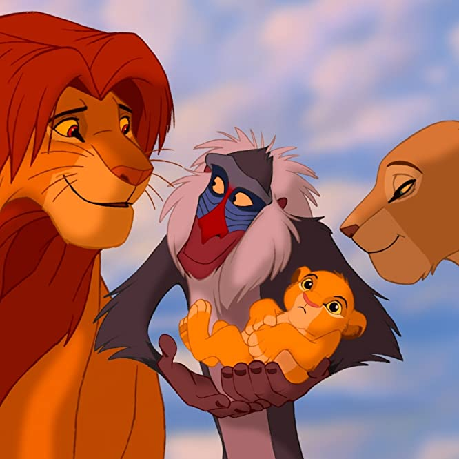 Matthew Broderick, Robert Guillaume, and Moira Kelly in The Lion King (1994)