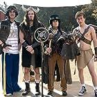 Janeane Garofalo, Paul Rudd, Skyler Gisondo, and Joey Bragg in Wet Hot American Summer: Ten Years Later (2017)
