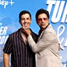 John Stamos and Josh Peck at an event for Turner & Hooch (2021)