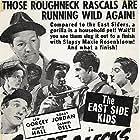 Stanley Clements, Gabriel Dell, Leo Gorcey, Huntz Hall, Ernest Morrison, Bobby Jordan, Roger Pryor, Maxie Rosenbloom, and Gale Storm in Smart Alecks (1942)