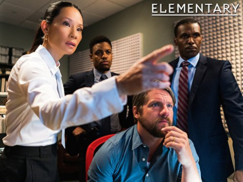 Lucy Liu, Zachary Knighton, Curtiss Cook, and Jon Michael Hill in Elementary (2012)