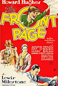 Pat O'Brien, Mary Brian, and Adolphe Menjou in The Front Page (1931)