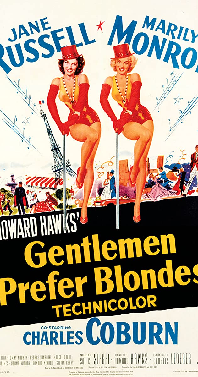 Image result for gentlemen prefer blondes film