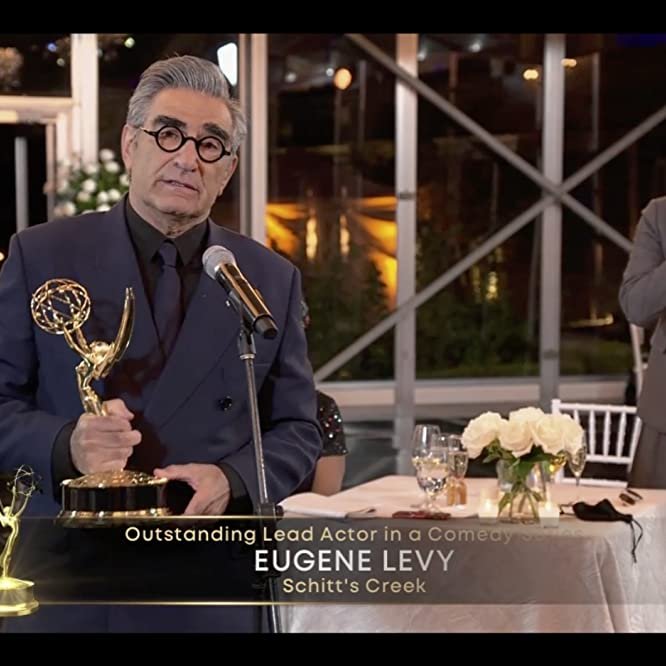Eugene Levy and Dan Levy at an event for The 72nd Primetime Emmy Awards (2020)