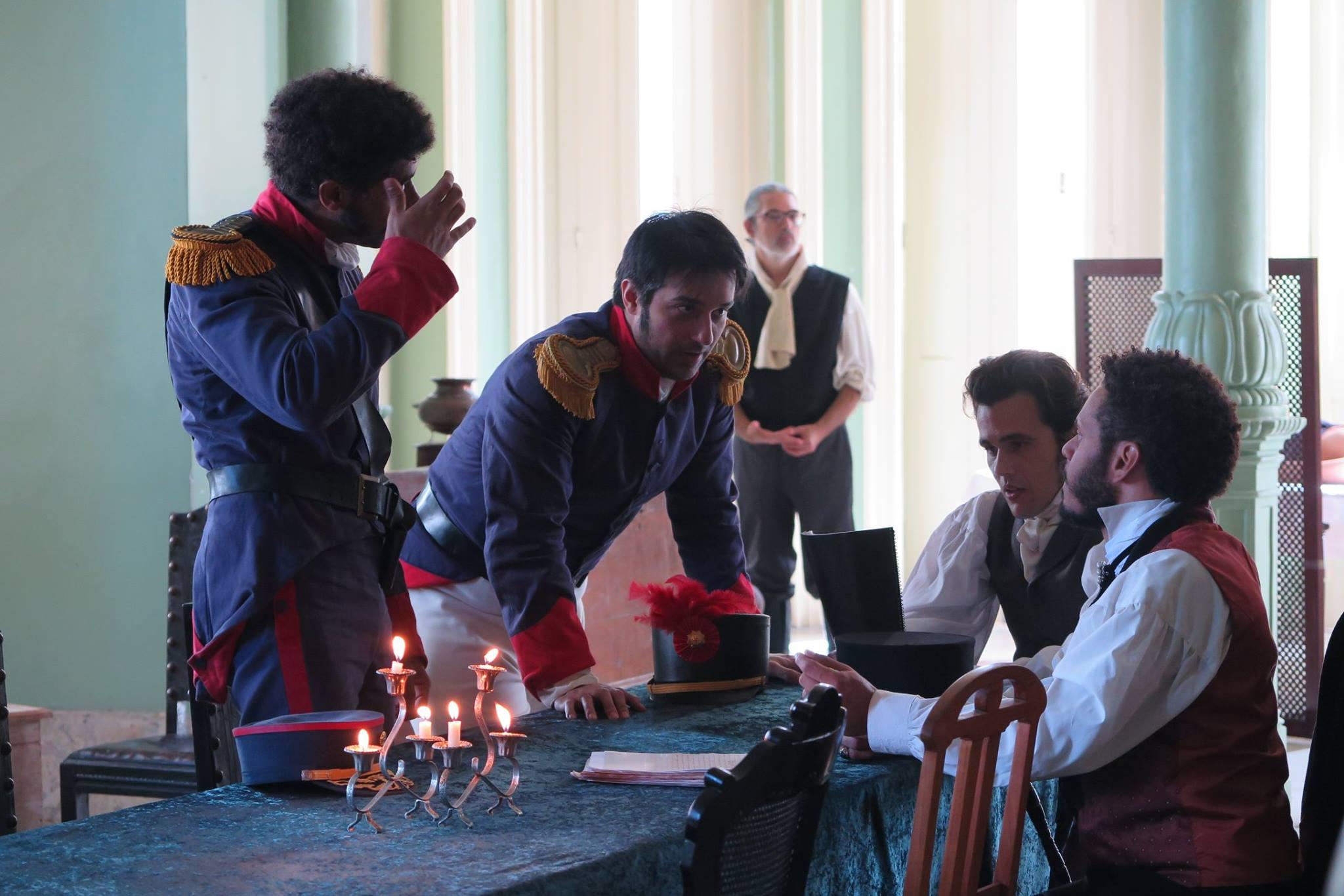Bruno Ferrari, Domingos Antonio, and Arthur Canavarro in 1817: A revolução esquecida (2017)