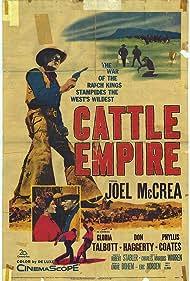 Phyllis Coates and Joel McCrea in Cattle Empire (1958)