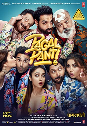 Pagalpanti 2019 Full Hindi Movie Download 400MB 480p HDRip