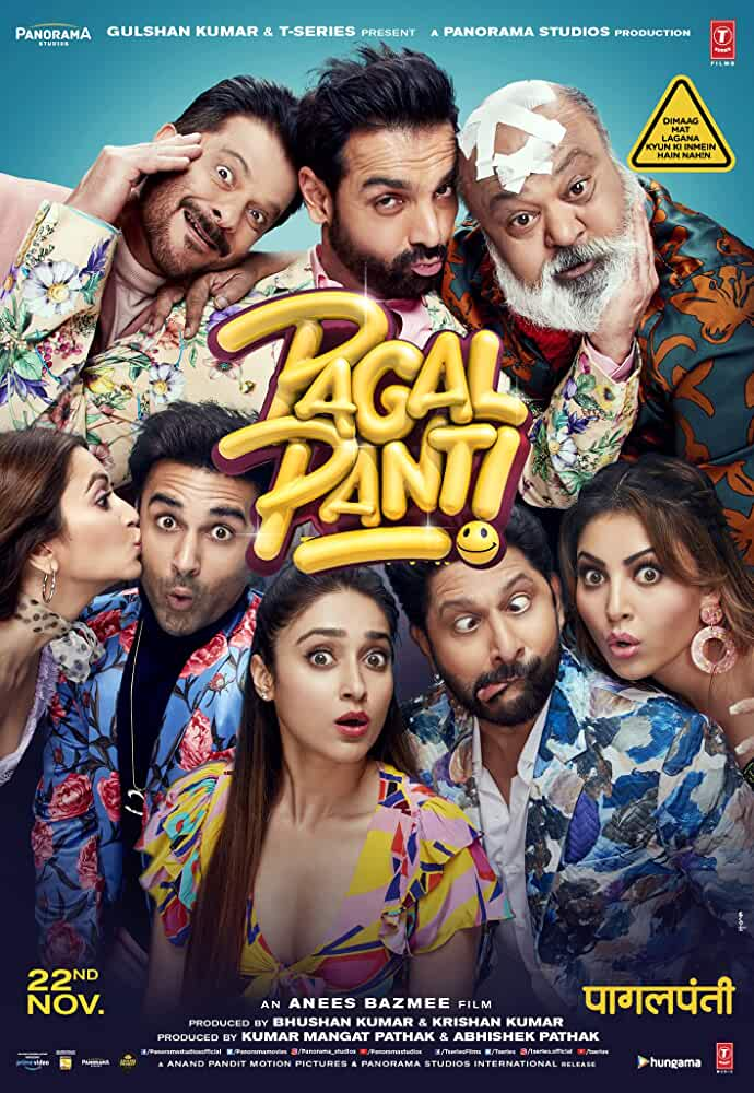 Pagalpanti (2019) Hindi Full Movie 720p HDRip [1.2GB]
