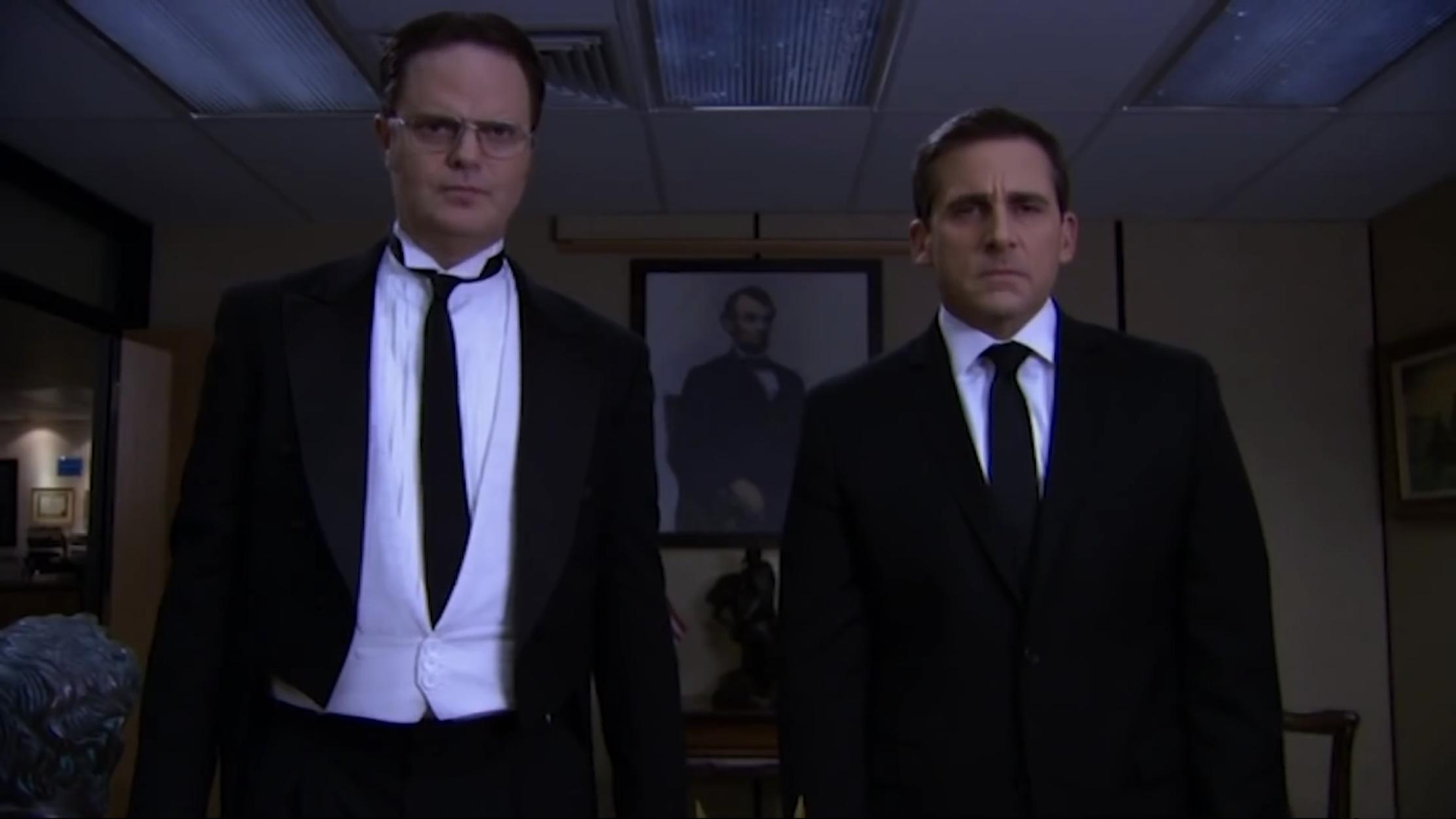 Steve Carell and Rainn Wilson in The Office (2005)