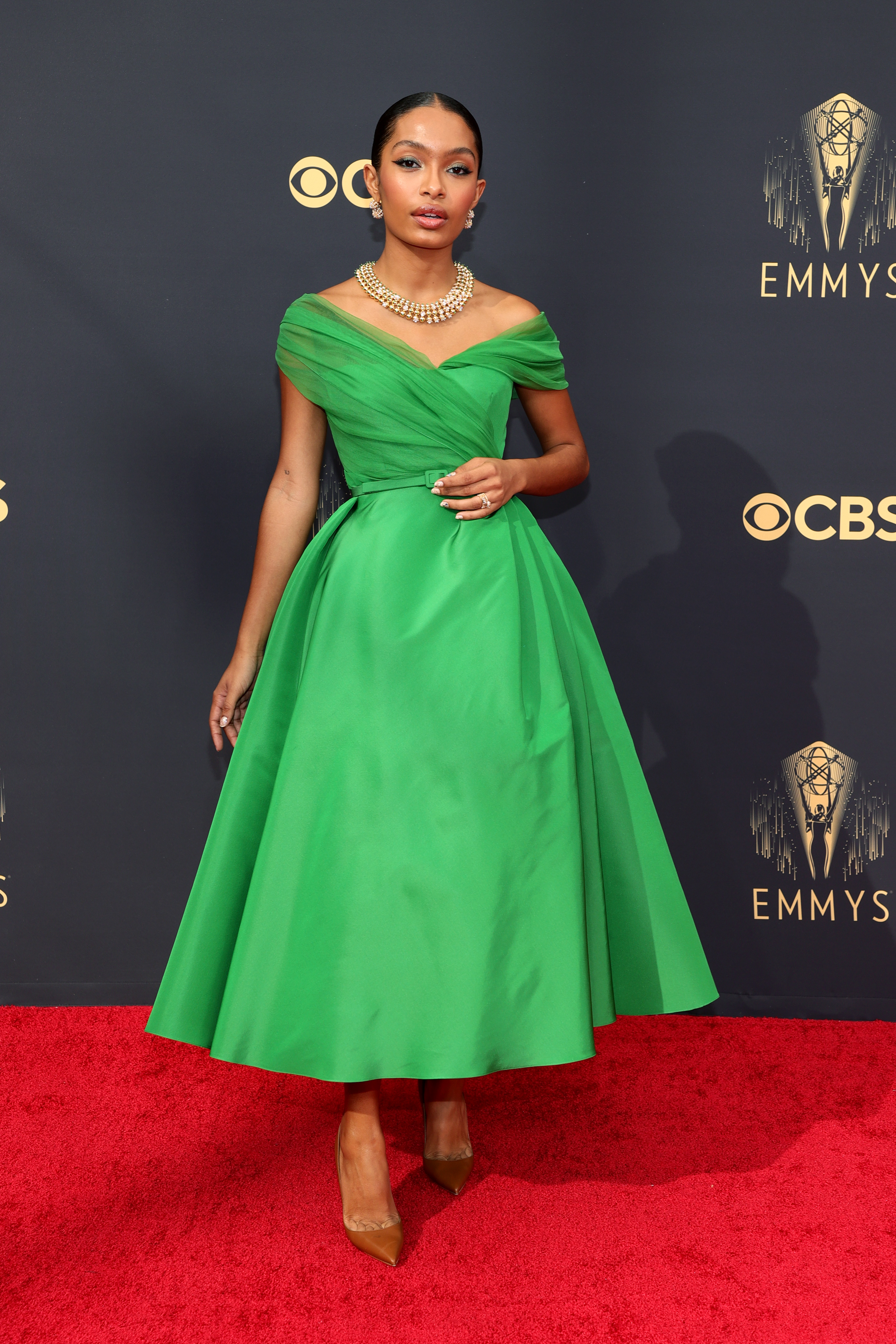 Yara Shahidi at an event for The 73rd Primetime Emmy Awards (2021)