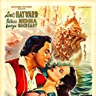 Louis Hayward and Patricia Medina in Fortunes of Captain Blood (1950)