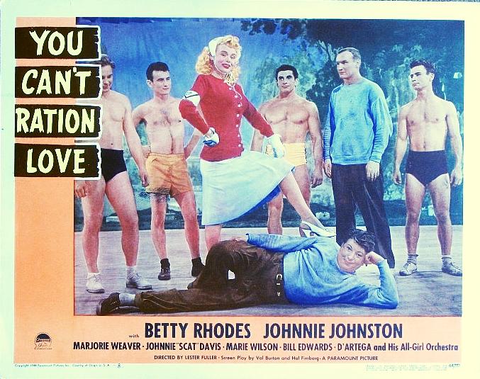 Johnnie Davis, Walter Pietila, John Schaller, Ramon Schaller, and Marie Wilson in You Can't Ration Love (1944)