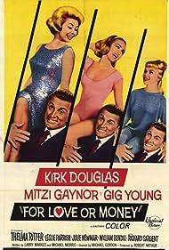Kirk Douglas, Mitzi Gaynor, Julie Newmar, and Leslie Parrish in For Love or Money (1963)