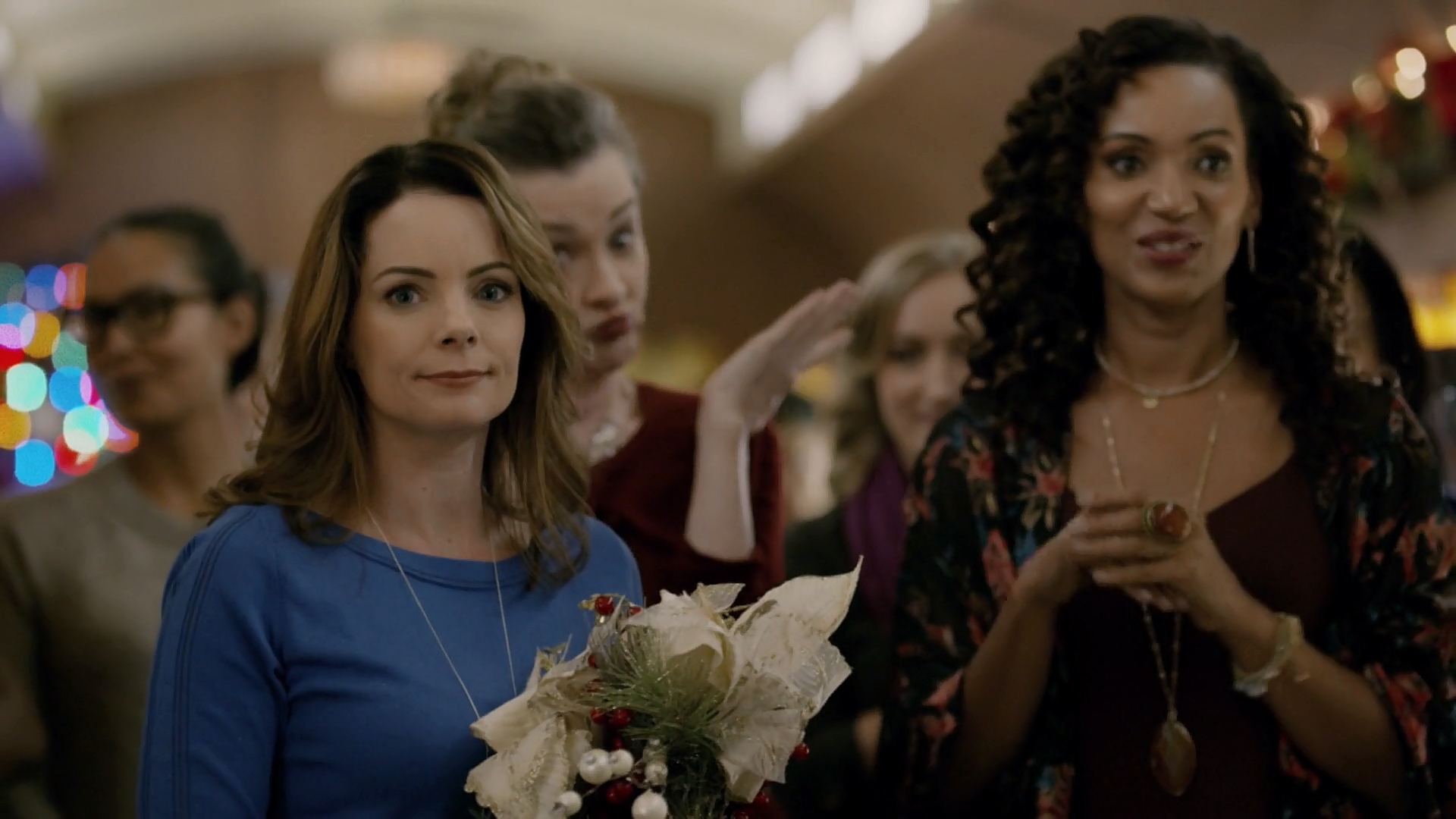 Joan Cusack, Karen Holness, and Kimberly Williams-Paisley in The Christmas Train (2017)