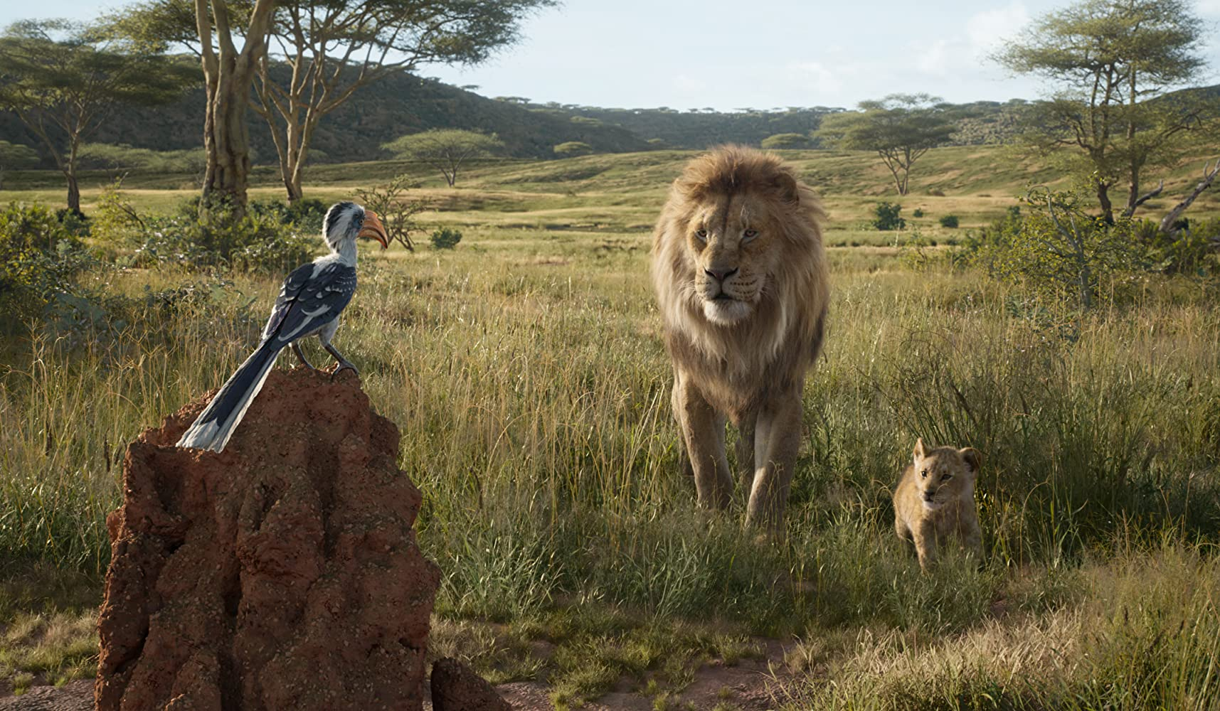 James Earl Jones, John Oliver, and JD McCrary in The Lion King (2019)