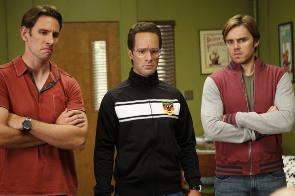 Chris Diamantopoulos, Alex Schemmer, and Alex Klein in Community (2009)