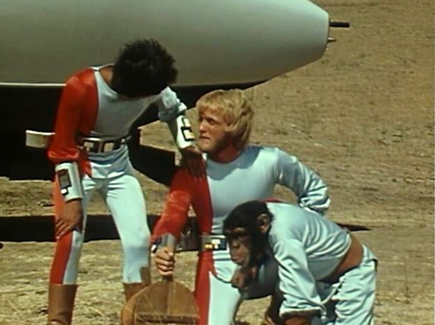 Terry Lester, José Flores, and Moochie in Ark II (1976)