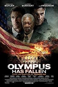 Morgan Freeman, Aaron Eckhart, and Gerard Butler in Olympus Has Fallen (2013)