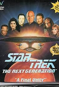 Michael Dorn, Jonathan Frakes, Gates McFadden, Marina Sirtis, Brent Spiner, LeVar Burton, and Patrick Stewart in Star Trek: The Next Generation - A Final Unity (1995)