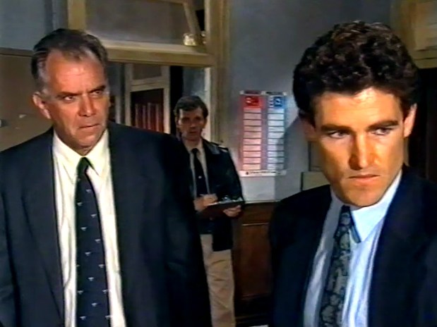 Peter Hosking and Bruce Hughes in Law of the Land (1993)