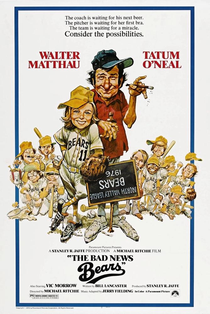 Walter Matthau and Tatum O'Neal in The Bad News Bears (1976)