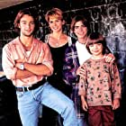 Joey Lawrence, Melinda Culea, Andrew Lawrence, and Matthew Lawrence in Brotherly Love (1995)