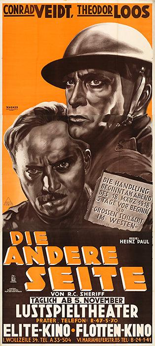 Theodor Loos, Heinz Paul, R.C. Sherriff, and Conrad Veidt in Die andere Seite (1931)