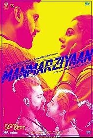 Abhishek Bachchan, Taapsee Pannu, and Vicky Kaushal in Manmarziyaan (2018)