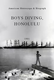 Boys Diving, Honolulu Poster