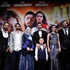Luk Piyes, Hayati Akbas, Büsra Apaydin, Gökhan Esen, Meltem Miraloglu, and Eren Hacisalihoglu at an event for Ates (2016)