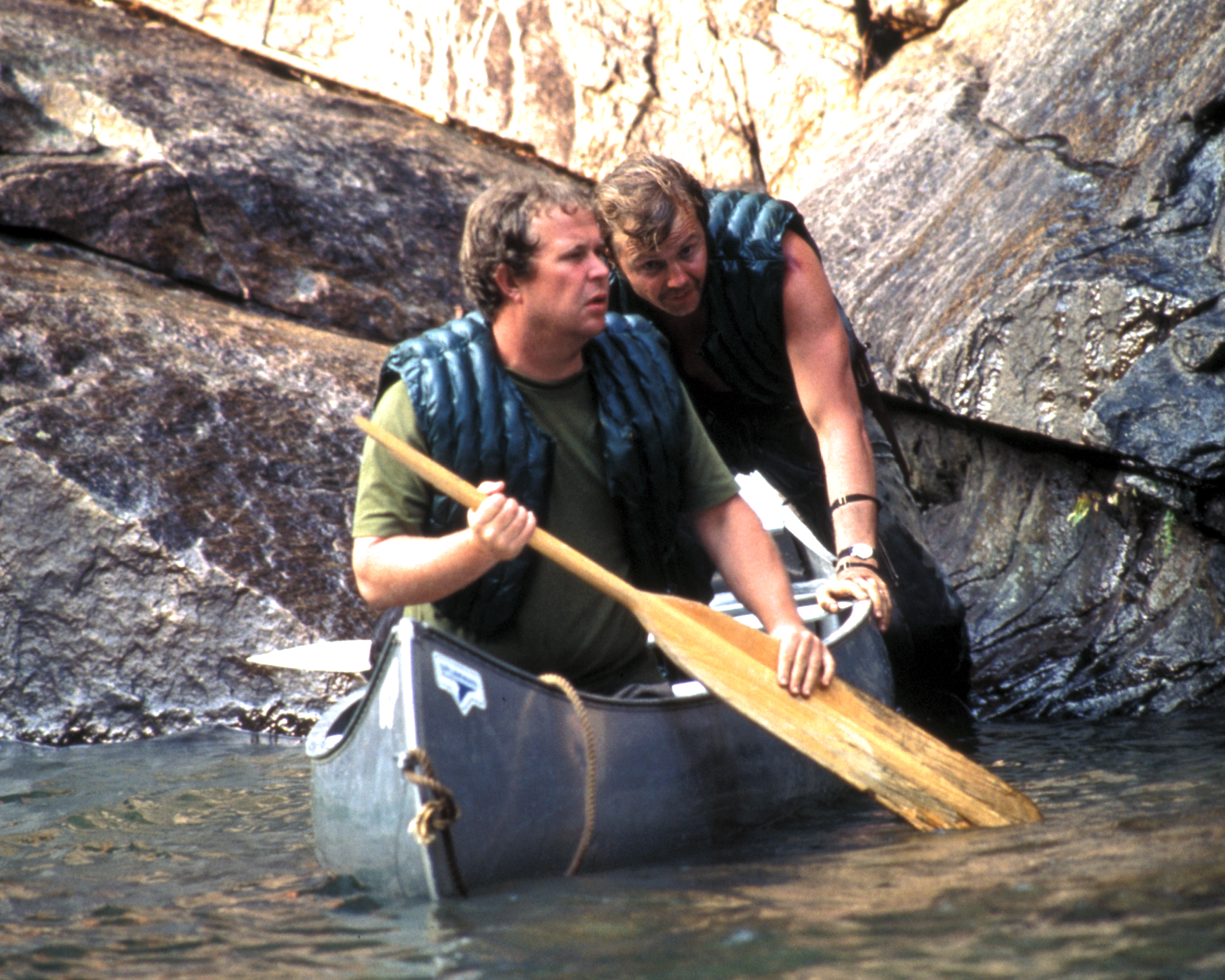 Jon Voight and Ned Beatty in Deliverance (1972)