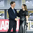 Elizabeth Olsen and Benedict Cumberbatch at an event for Doctor Strange in the Multiverse of Madness (2022)
