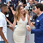 Anthony Harvey, Edgar Ramírez, and Ana de Armas at an event for Hands of Stone (2016)