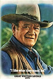 John Wayne for Great Western Savings Poster