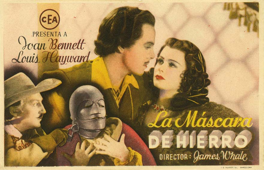 Joan Bennett, Louis Hayward, and Warren William in The Man in the Iron Mask (1939)