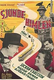 Gunnar Björnstrand, Sickan Carlsson, Hasse Ekman, Sigge Fürst, and Stig Järrel in Sjunde himlen (1956)