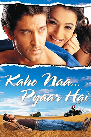 Poster of Kaho Naa Pyaar Hai 2000 Full Hindi Free Download Watch Online In HD Movie Download 480p HDRip