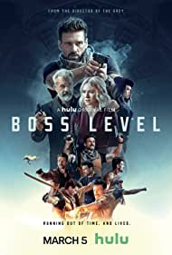 Mel Gibson, Frank Grillo, Naomi Watts, and Selina Lo in Boss Level (2021)