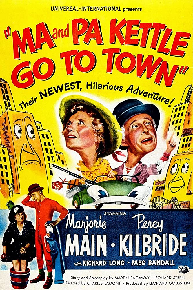 Percy Kilbride and Marjorie Main in Ma and Pa Kettle Go to Town (1950)