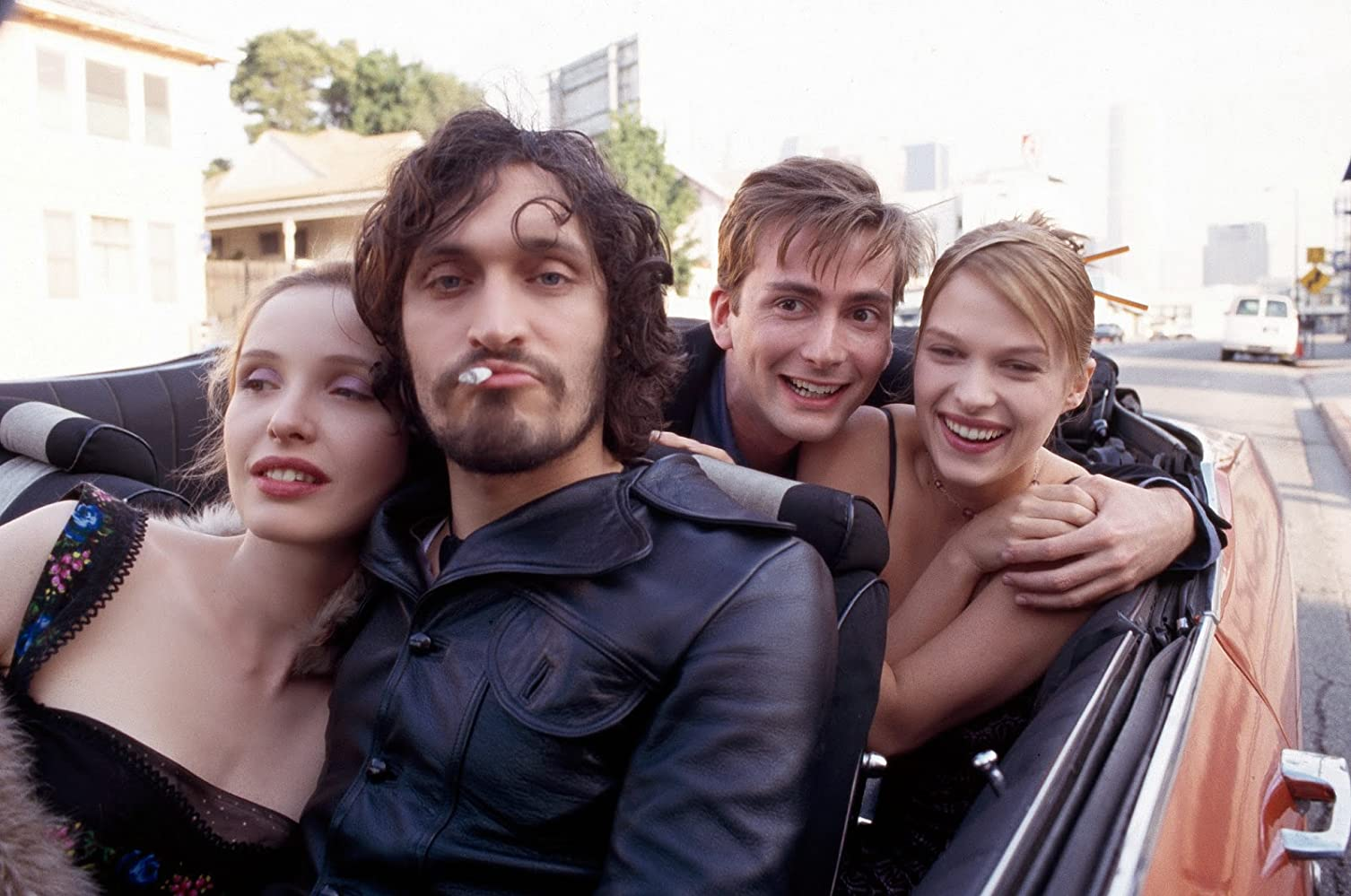 Julie Delpy, Vincent Gallo, Vinessa Shaw, and David Tennant in L.A. Without a Map (1998)