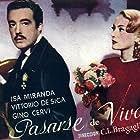 Vittorio De Sica and Isa Miranda in Lo sbaglio di essere vivo (1945)