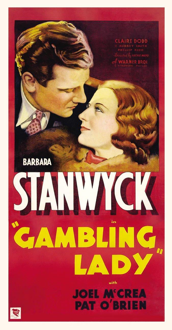 Barbara Stanwyck and Joel McCrea in Gambling Lady (1934)